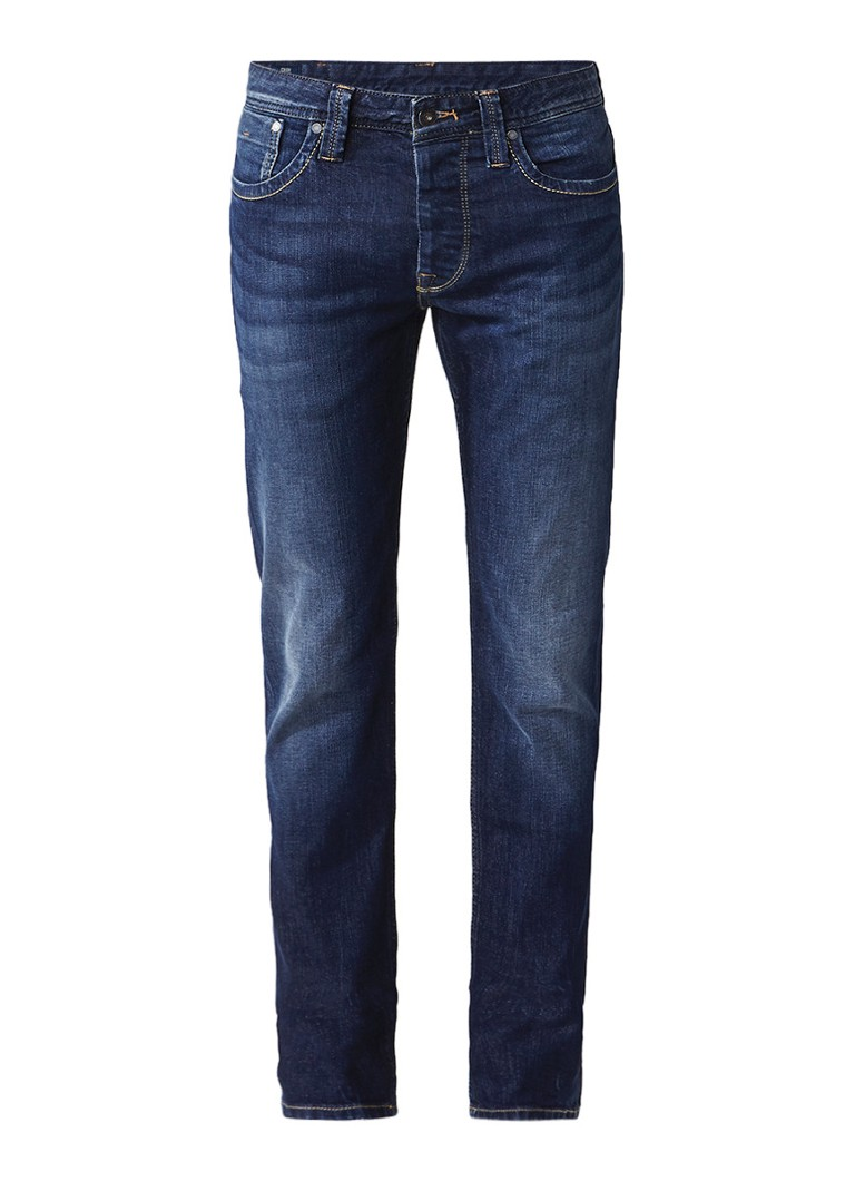 Pepe Jeans Cash mid rise straight fit jeans met faded look