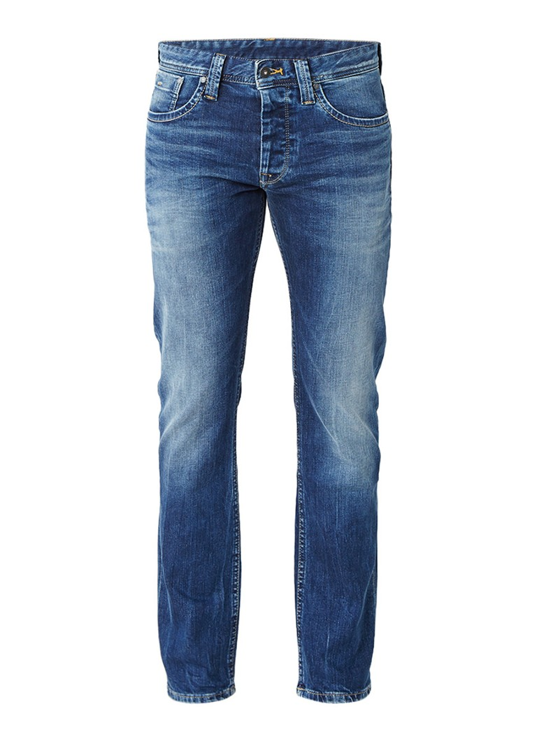 Pepe Jeans Cash mid rise regular fit jeans met faded look