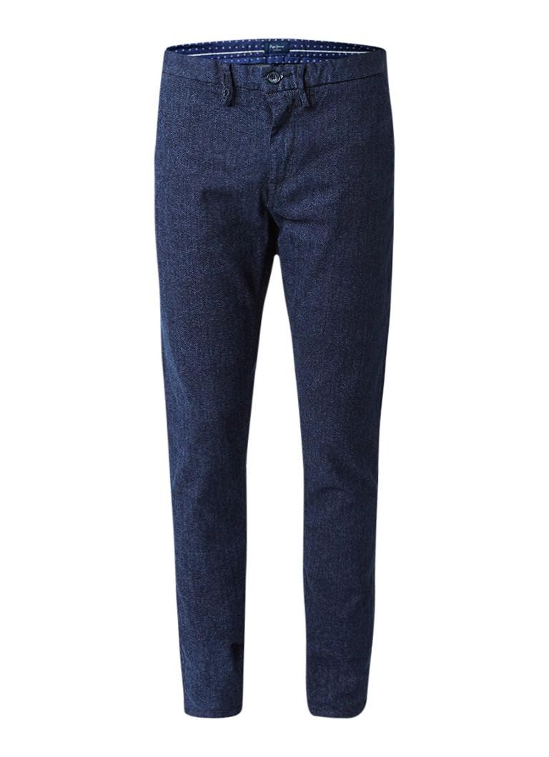 Pepe Jeans James tweed slim fit chino van denim