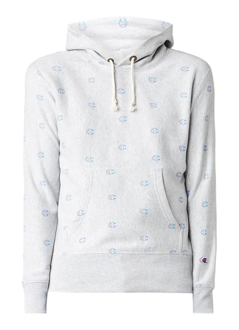 Champion Gemêleerde hoodie met all over logodessin