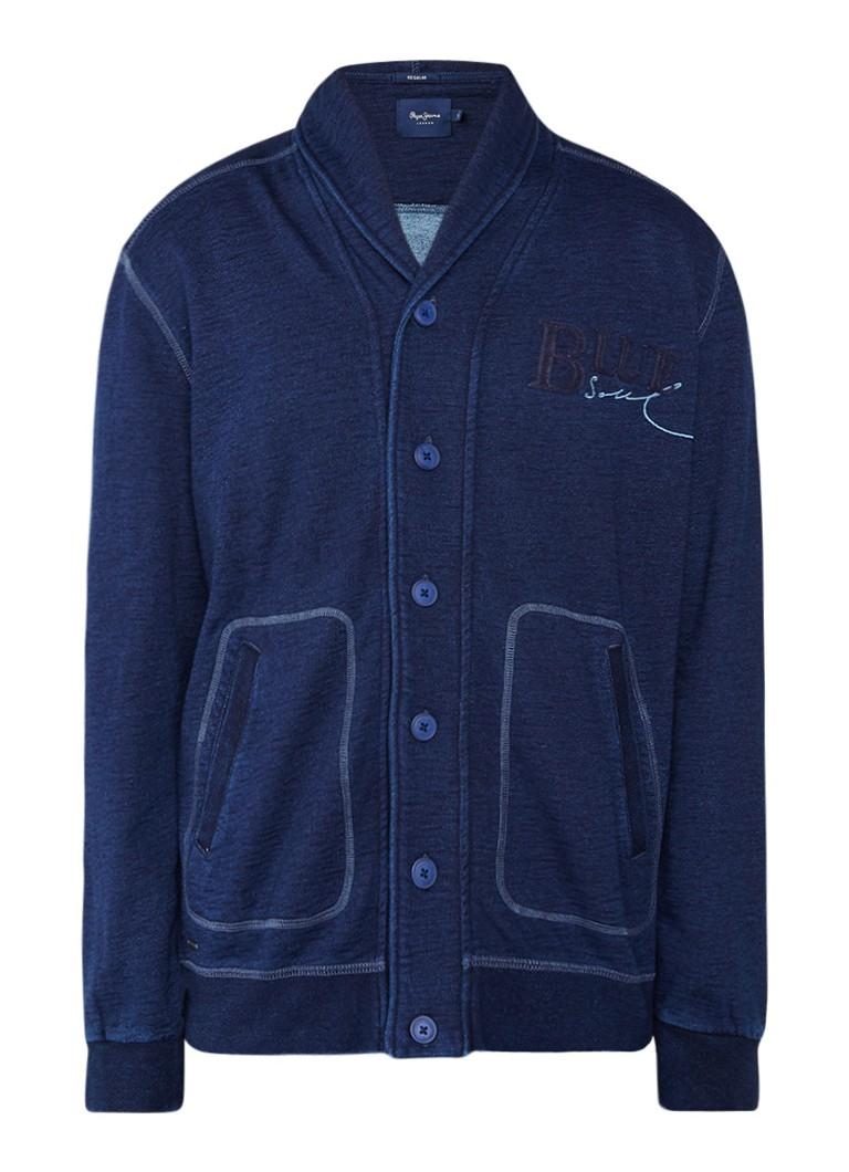 Pepe Jeans Vest van sweatstof in denim look