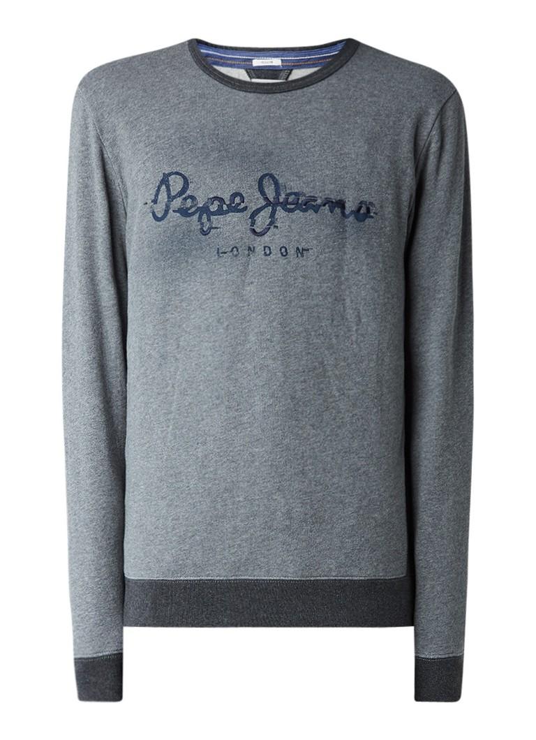 Pepe Jeans Sweater met logoprint en borduring