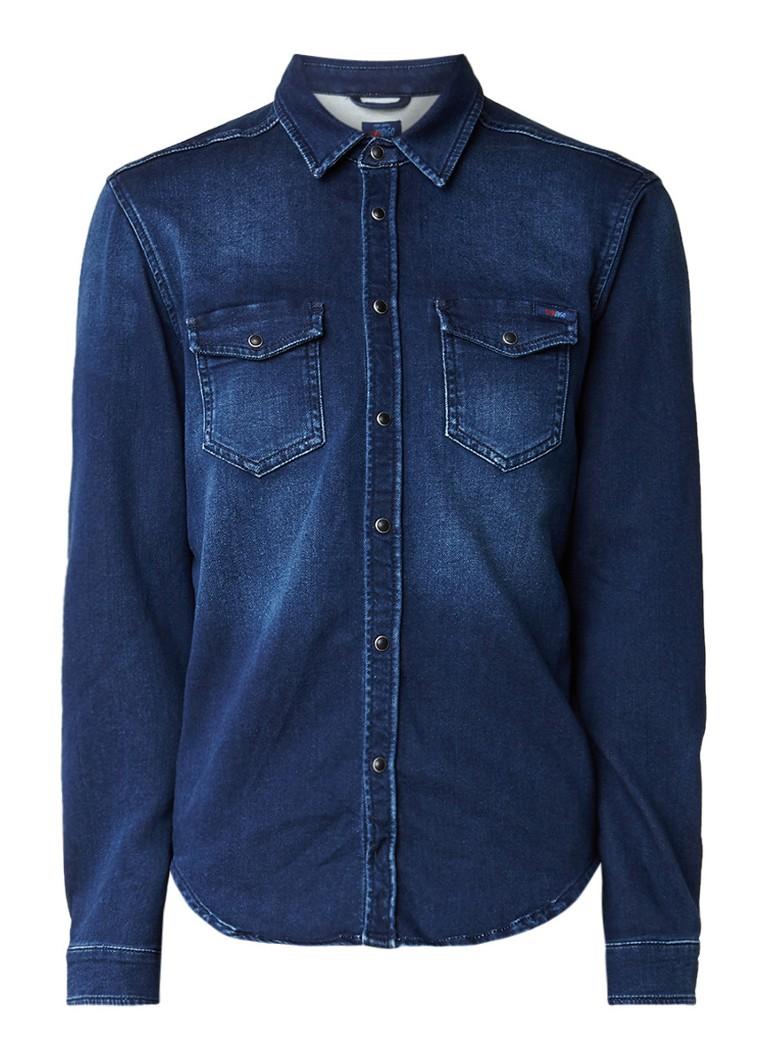 Pepe Jeans Jepson denim overhemd met drukknoopsluiting