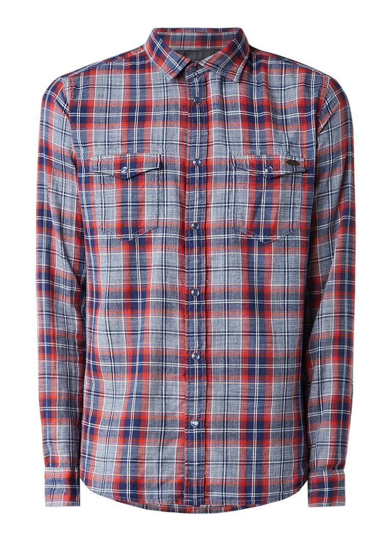Pepe Jeans Regular fit overhemd met ruitdessin en drukknoopsluiting