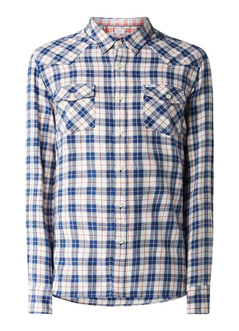Pepe Jeans Regular fit overhemd met geruit dessin