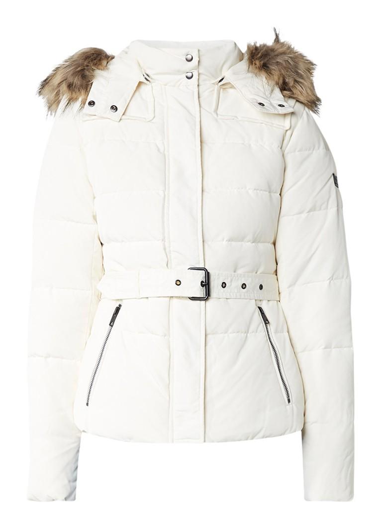 Pepe Jeans Claris gewatteerde winterjas gebroken wit