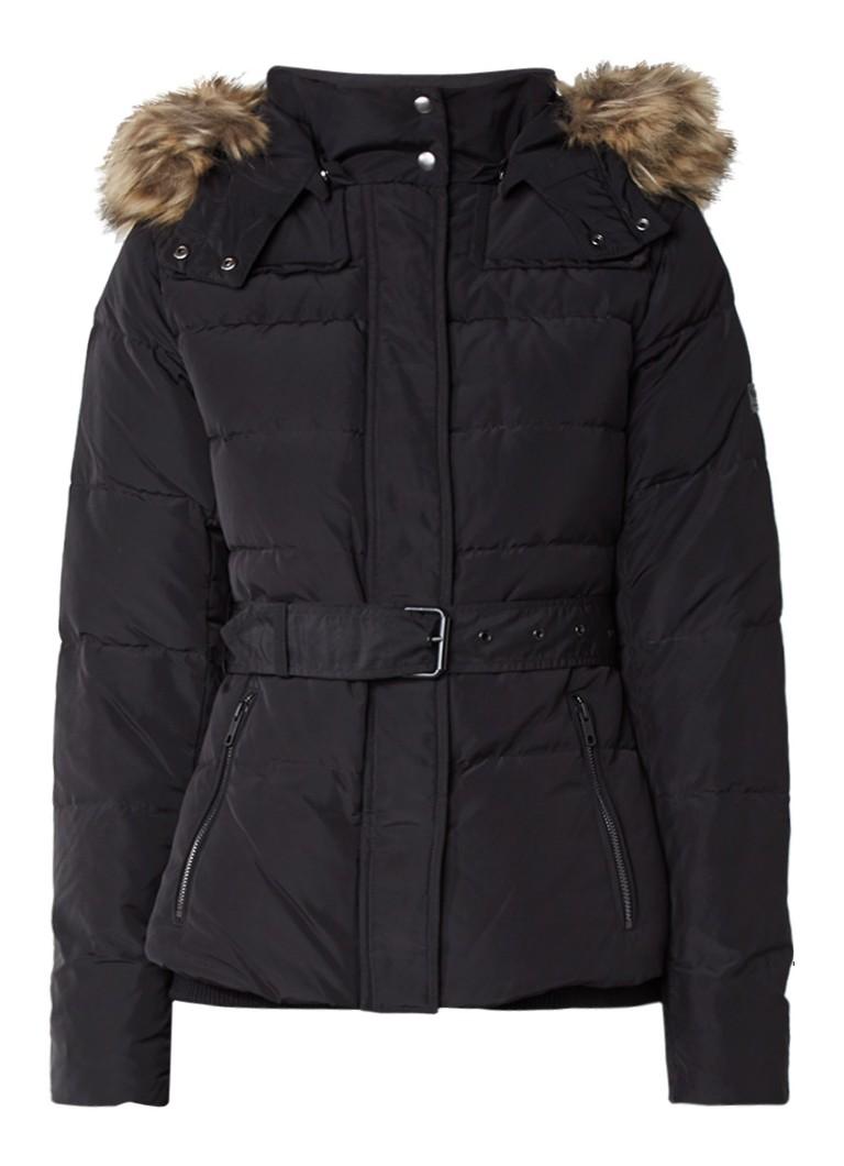 Pepe Jeans Claris gewatteerde winterjas zwart