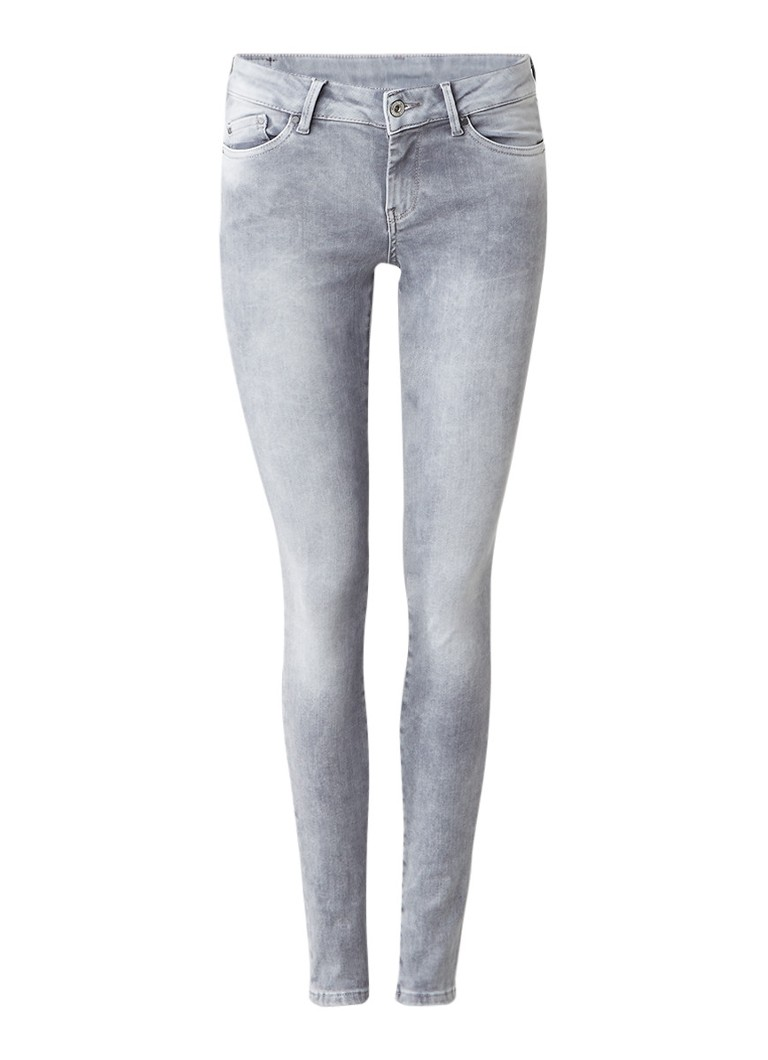 Pepe Jeans Pixie low rise skinny fit jeans met faded finish