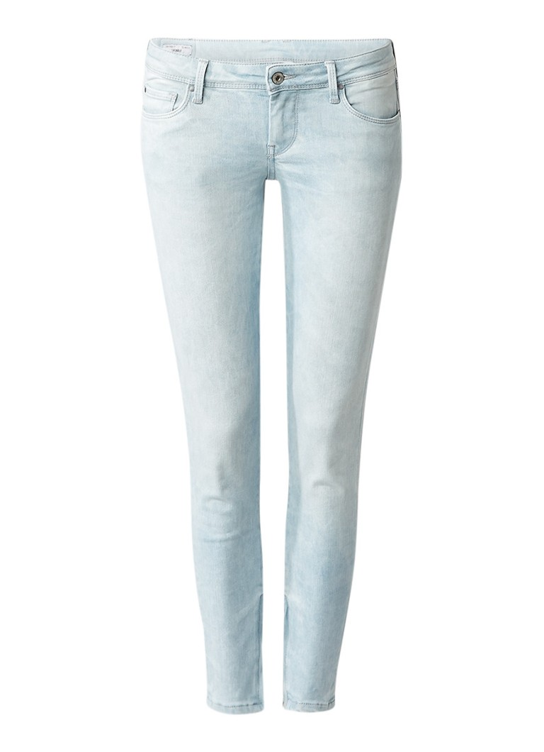 Pepe Jeans Cher low rise cropped skinny jeans met ritsdetails L28
