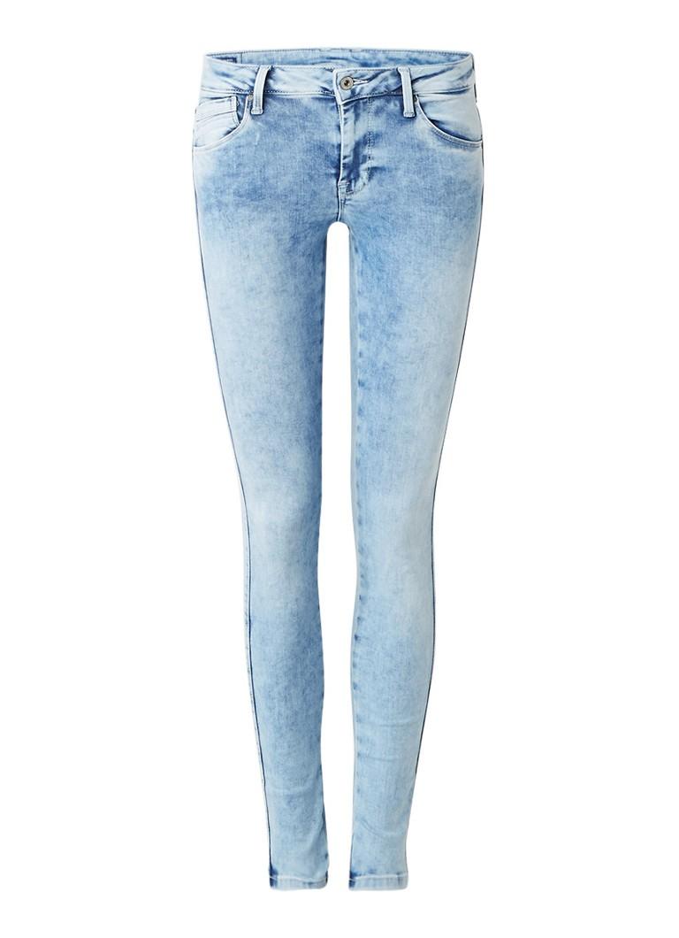 Pepe Jeans Aero low rise skinny jeans met acid wash