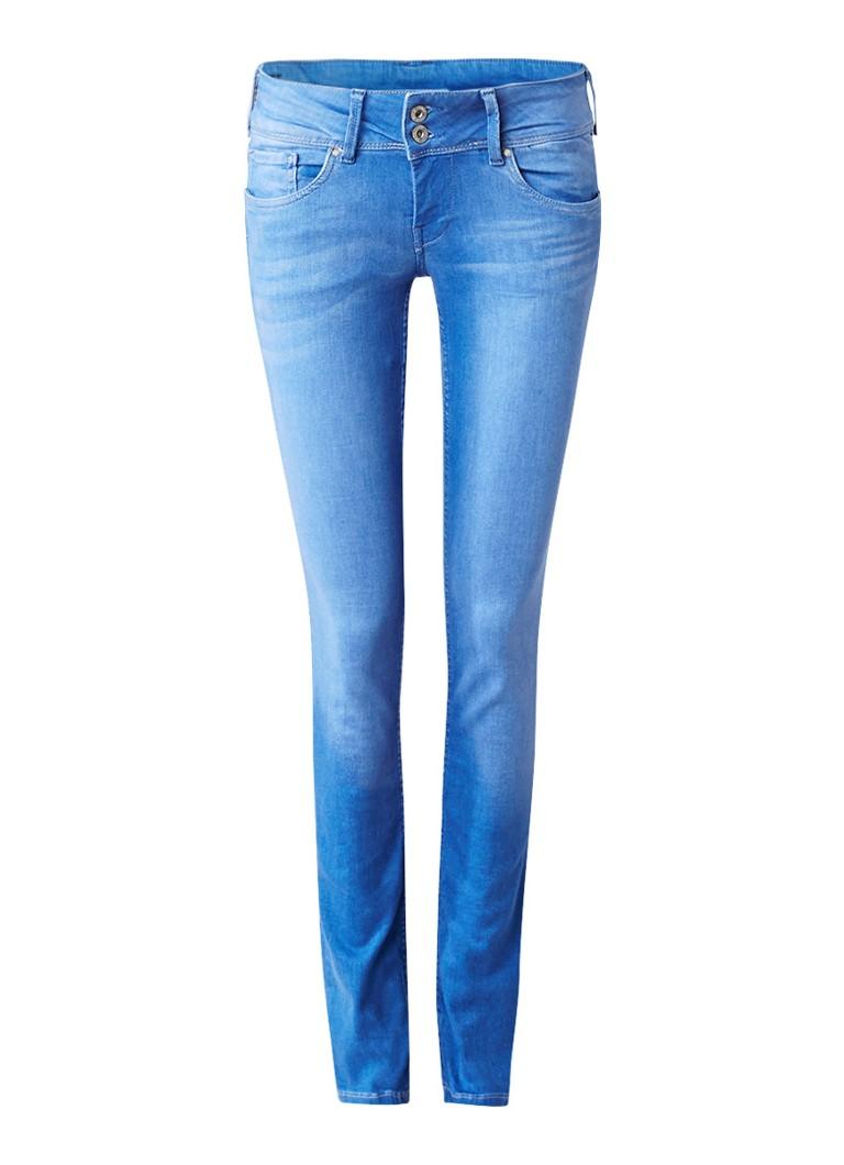 Pepe Jeans Vera low rise slim fit jeans met faded look