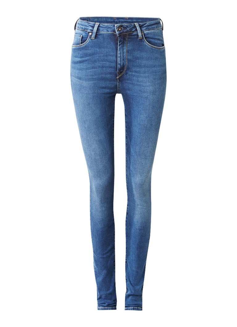 Pepe Jeans Regent high rise skinny jeans met faded look