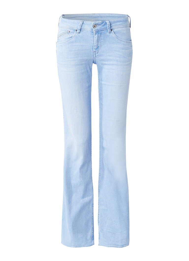 Pepe Jeans Pimlico low rise flared jeans met faded look