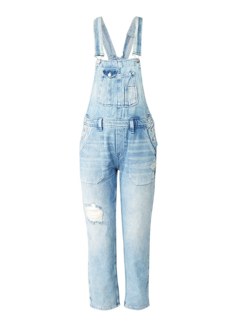 Pepe Jeans Jodie 7 8 tuinbroek met destroyed look
