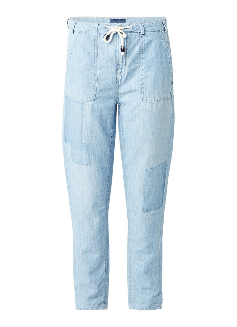 Pepe Jeans Labyrinth tapered fit jogjeans in linnenblend