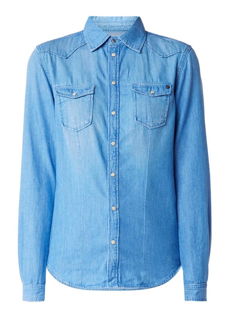 Pepe Jeans Rosie blouse van denim met borstzakken