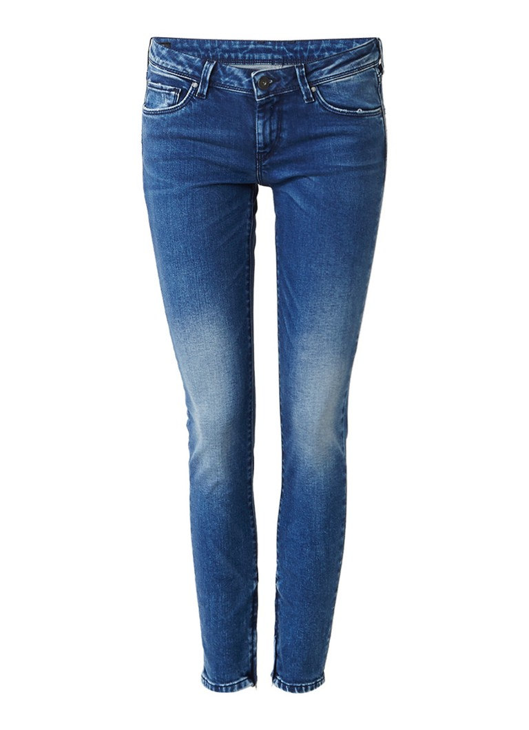 Pepe Jeans Cher low rise cropped skinny jeans met ritsdetails