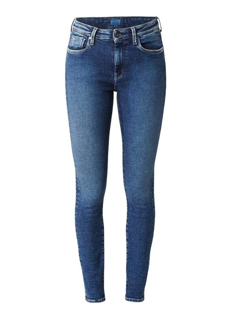 Pepe Jeans Regent high rise skinny jeans met faded look