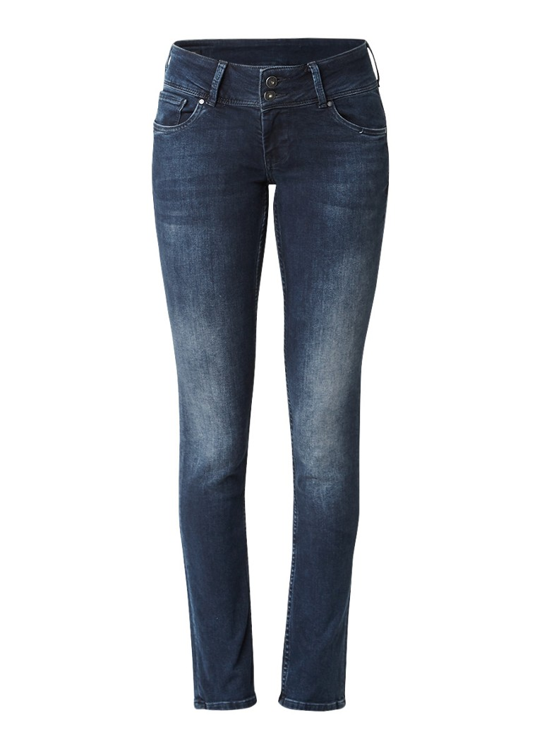Pepe Jeans Vera low rise slim fit jeans met faded look