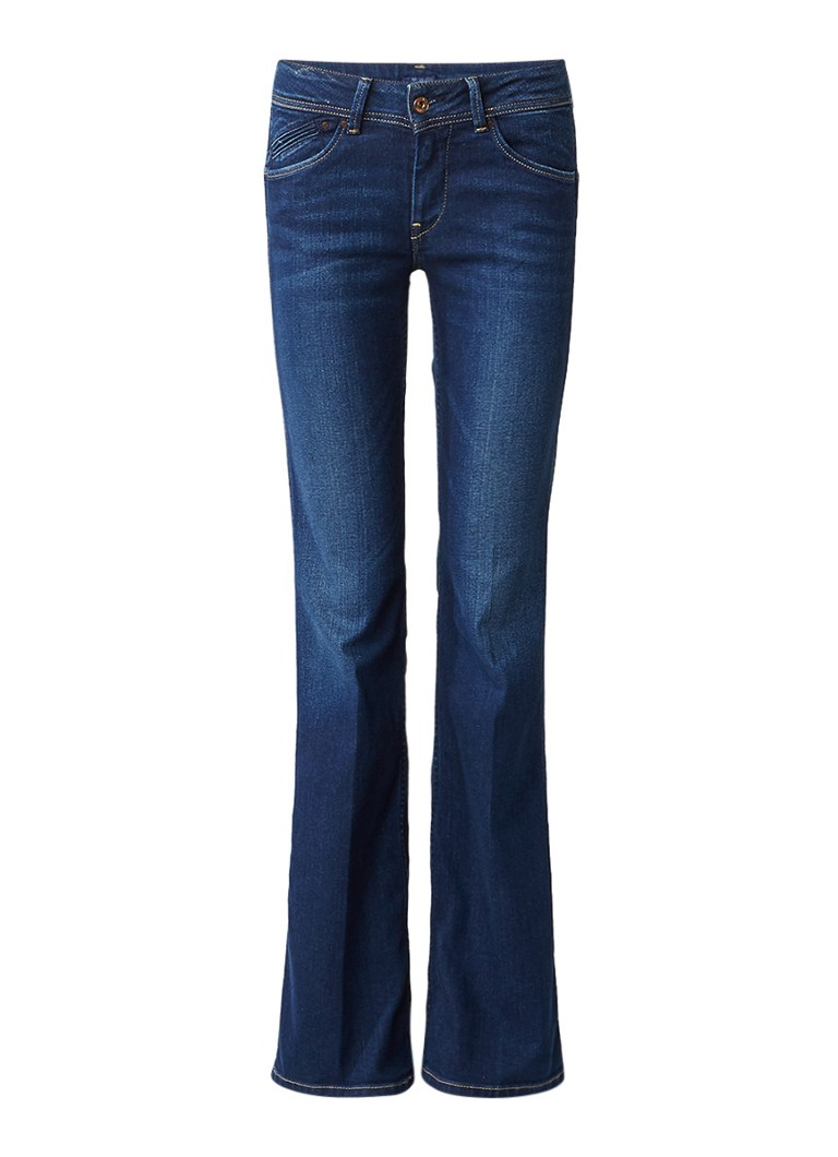 Pepe Jeans Pimlico mid rise flared jeans met donkere wassing