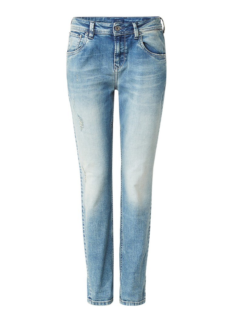 Pepe Jeans Violet high rise mom jeans met destroyed details