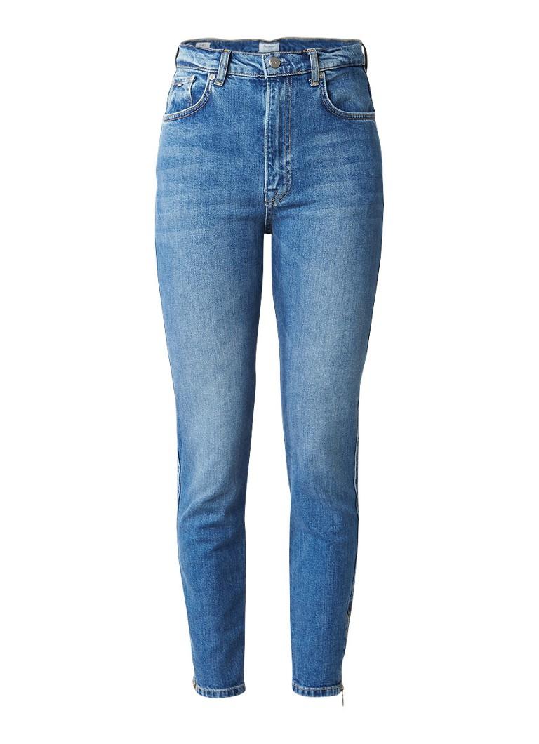 Pepe Jeans Gladis slim mom jeans met ritsdetails