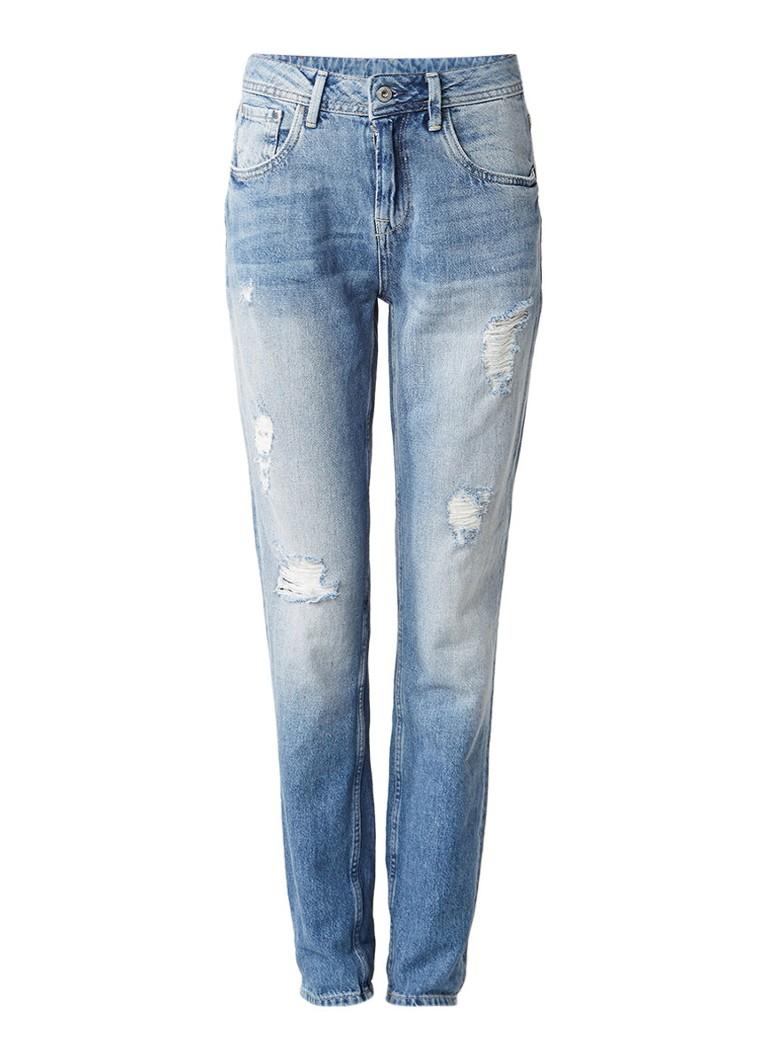 Pepe Jeans Violet boyfriend jeans met destroyed details