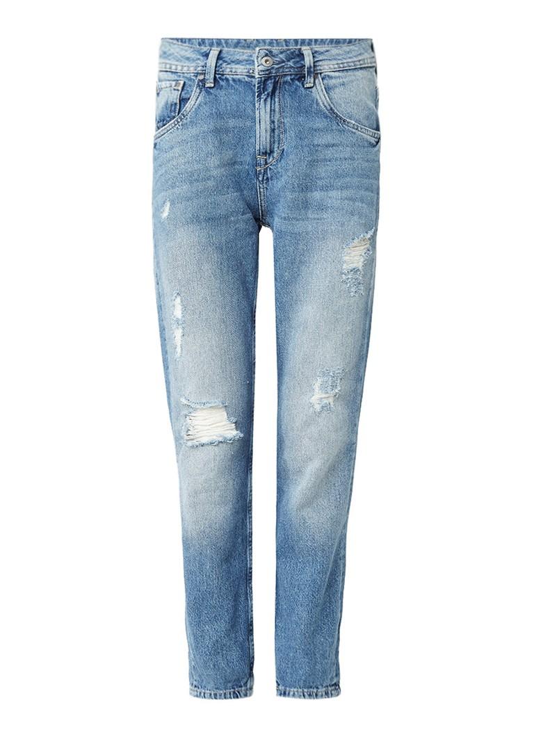 Pepe Jeans Violet high rise boyfriend jeans met destroyed details