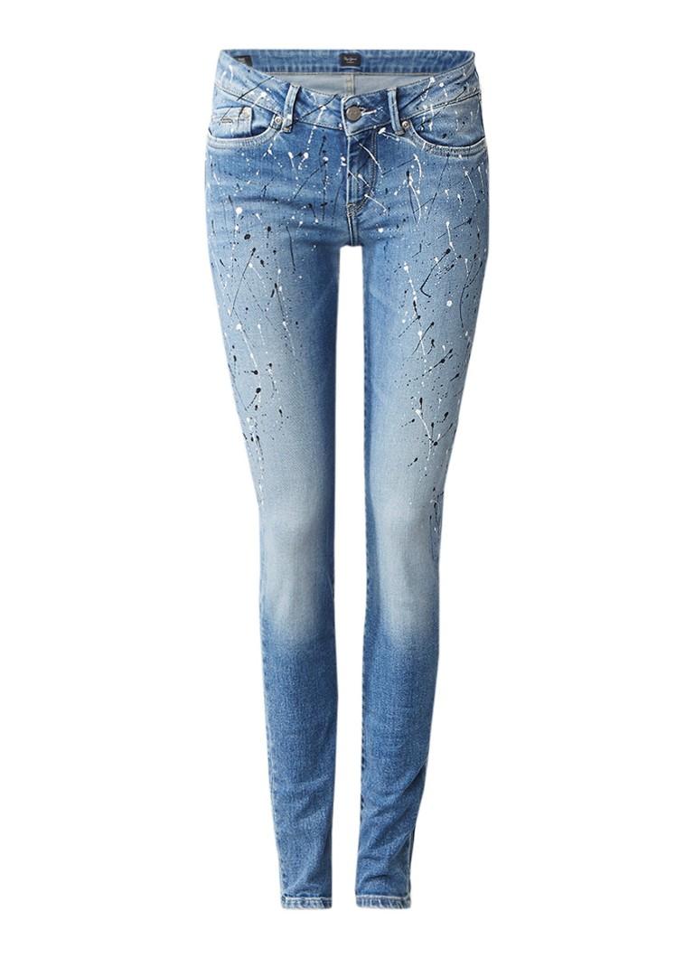 Pepe Jeans Pixie Flick low rise skinny jeans met verfspetters