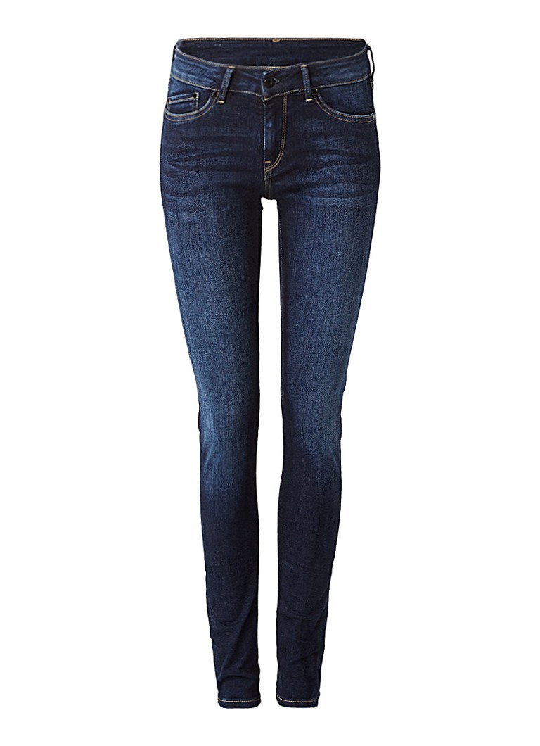 Pepe Jeans Pixie low rise skinny jeans met faded look