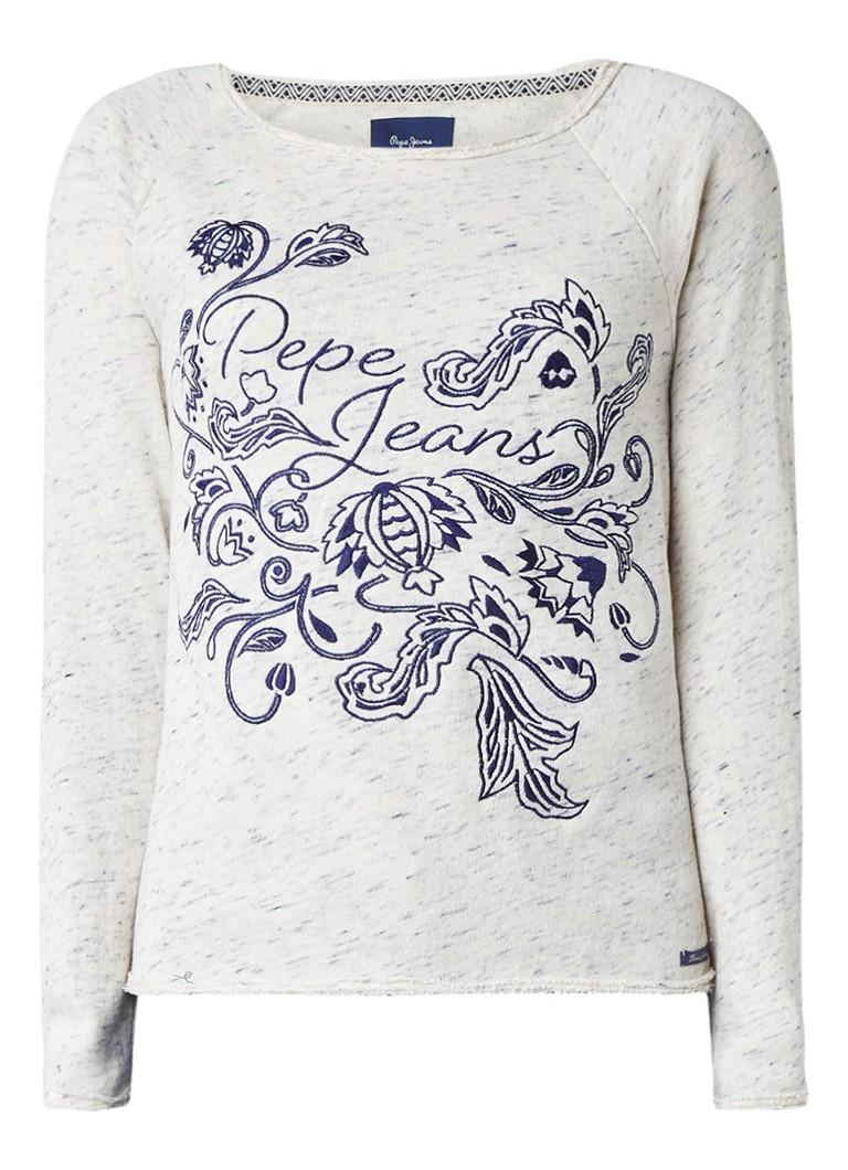Pepe Jeans Beatriz losvallende sweater met broderie