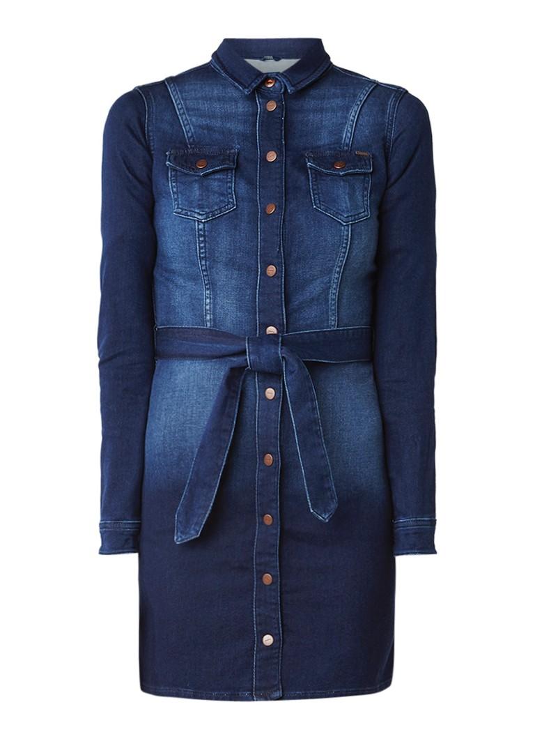 Pepe Jeans Nicole denim jurk met strikceintuur
