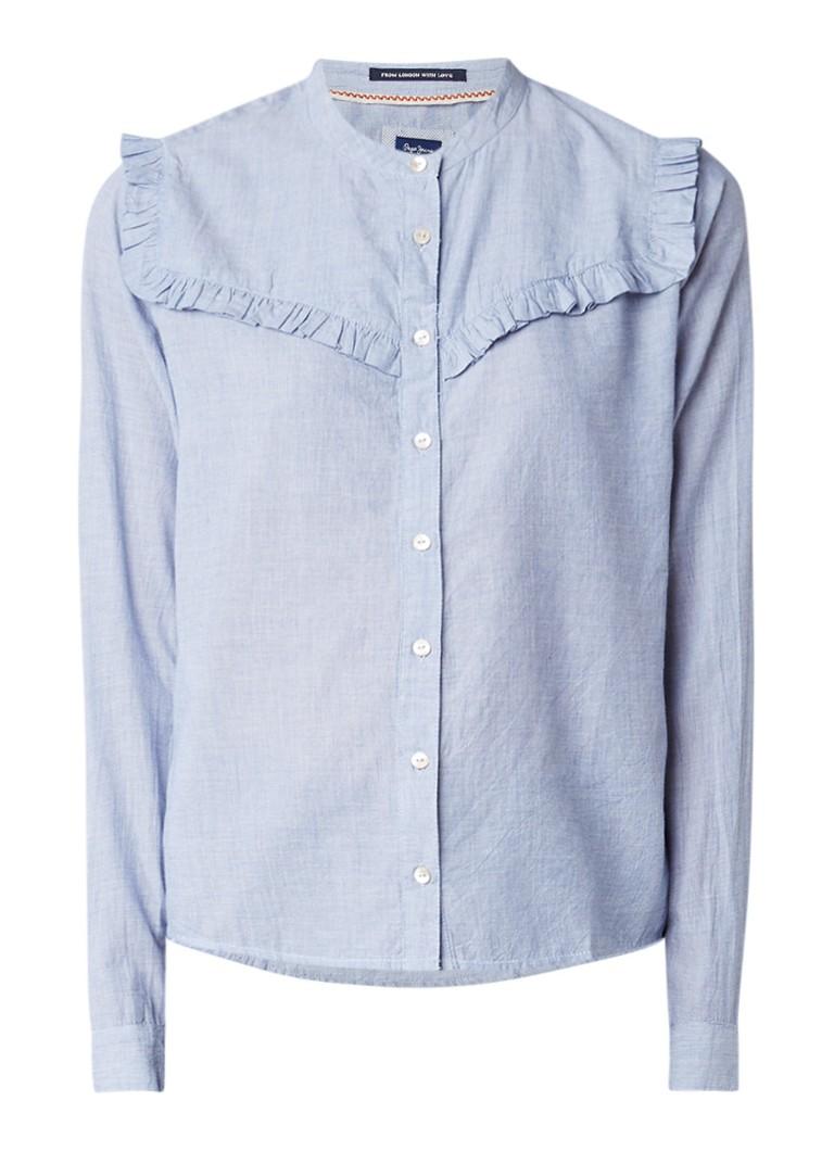 Pepe Jeans Mandi blouse van katoen met ruches
