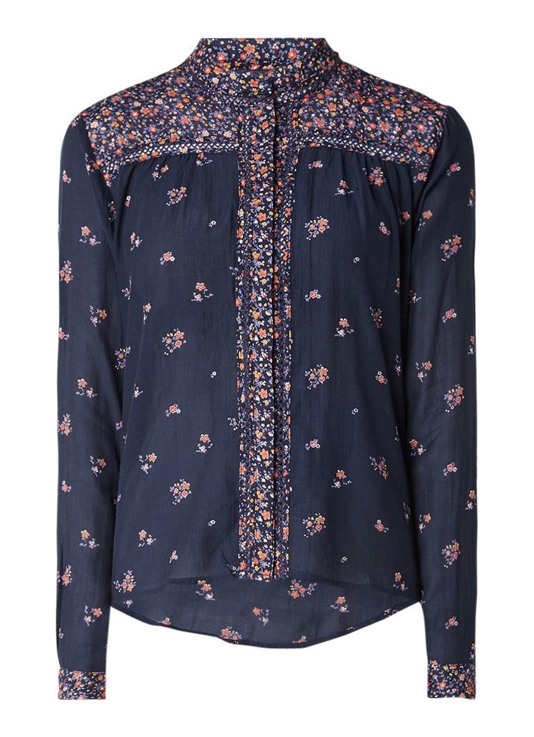 Pepe Jeans Blouse met gehaakte details en bloemendessin