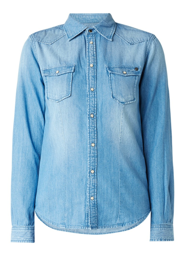Pepe Jeans Rosie blouse van denim