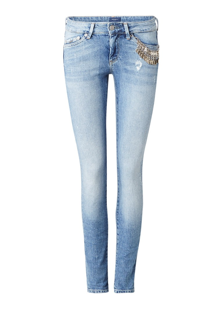 Pepe Jeans Pixie Drifta low rise skinny jeans met decoratie