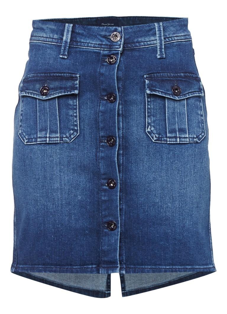 Pepe Jeans Scarlett denim rok met klepzakken
