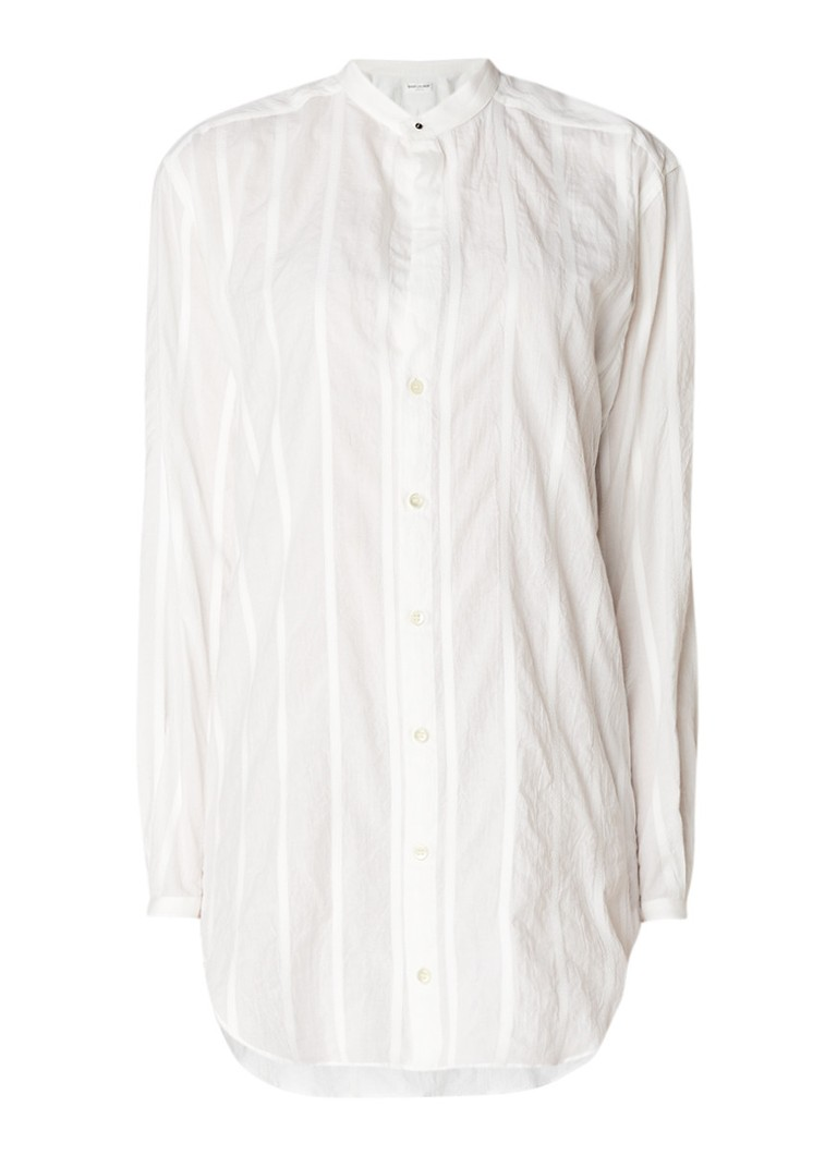 Saint Laurent Oversized blouse van katoen met ingeweven streepdessin