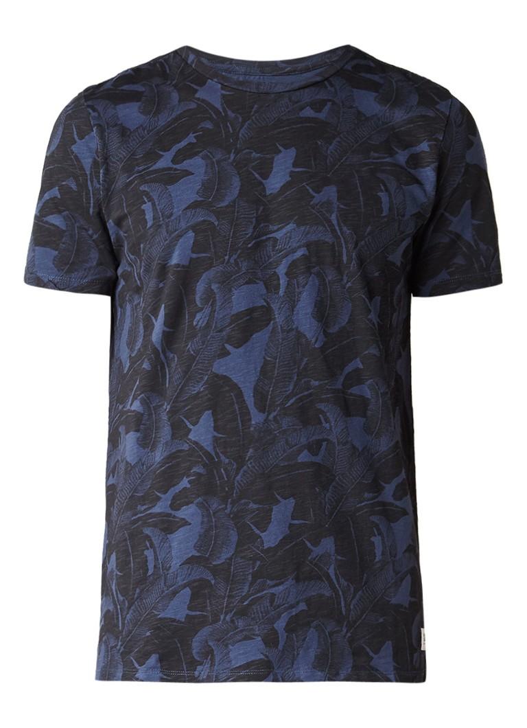 America Today Edward Leaf T-shirt met bladprint