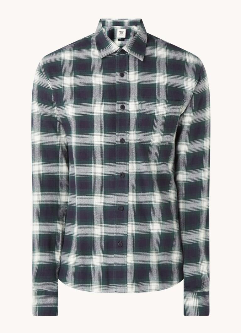 America Today Hector regular fit overhemd van flanel met ruitdessin