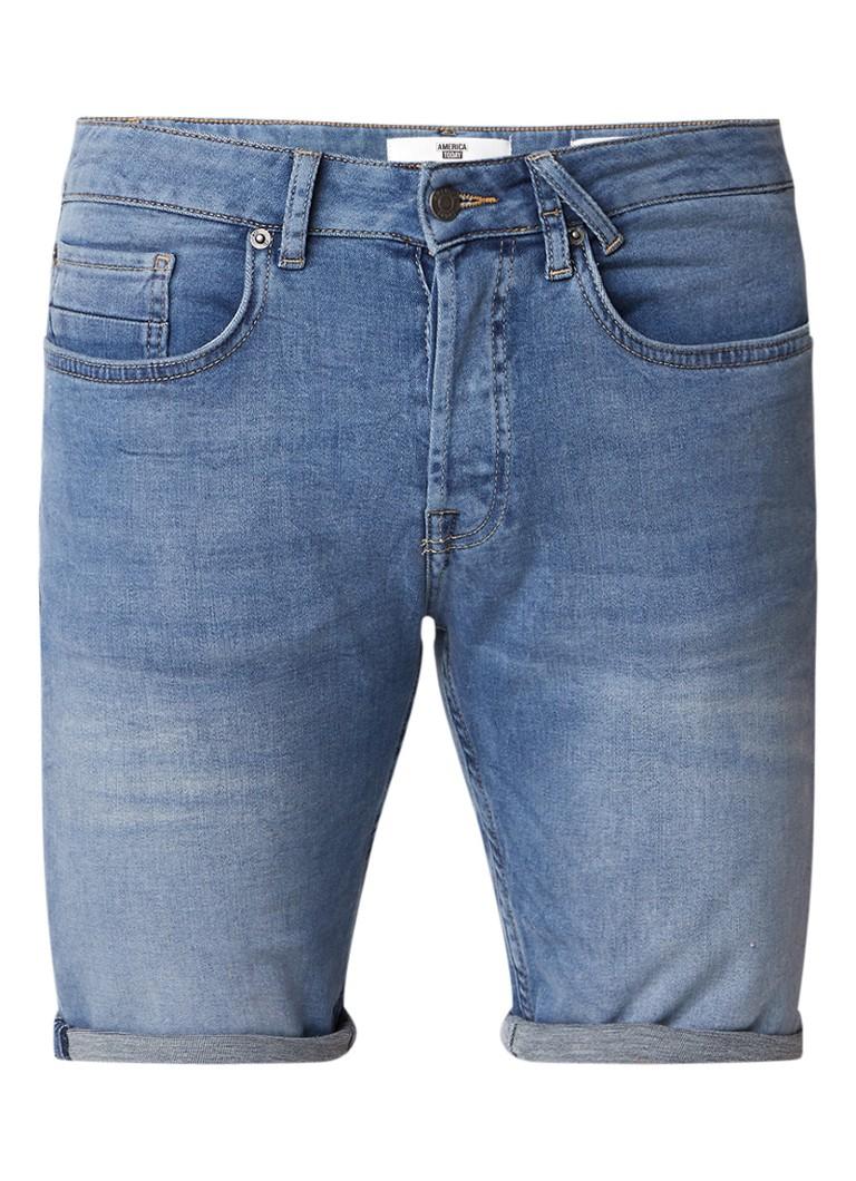 America Today Robert Jog regular fit denim shorts met stretch