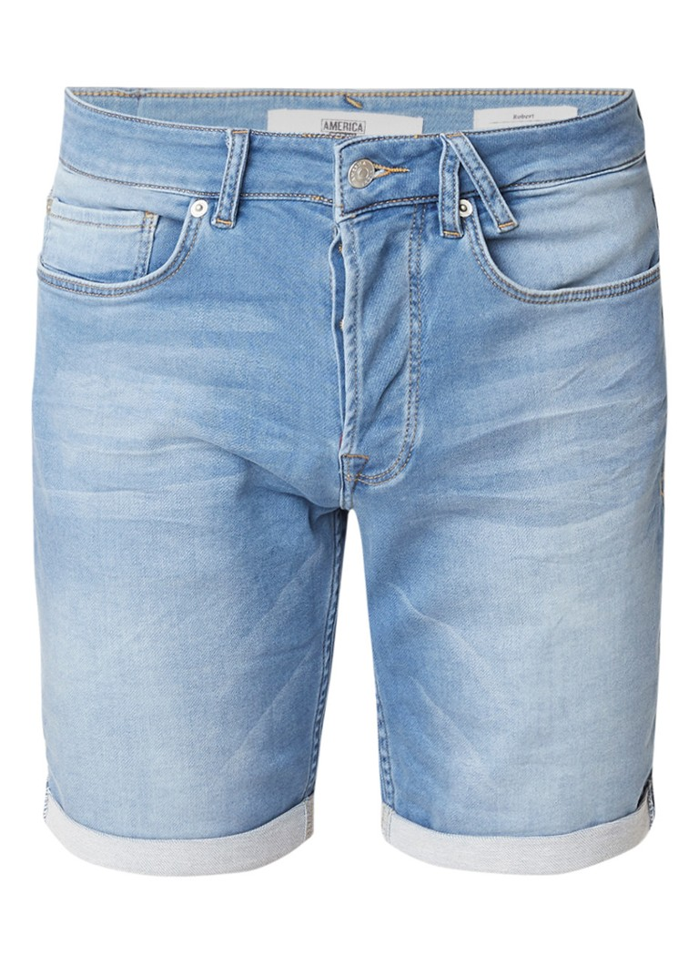 America Today Robert denim shorts met stretch