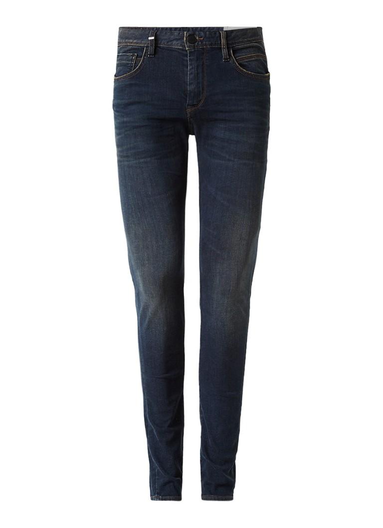 Ikks Mid rise slim fit jeans met faded look