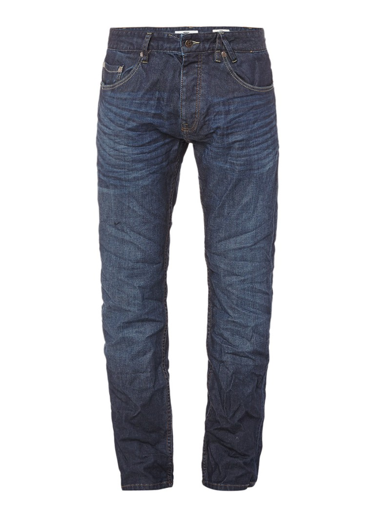 America Today Dean straight fit jeans met donkere wassing