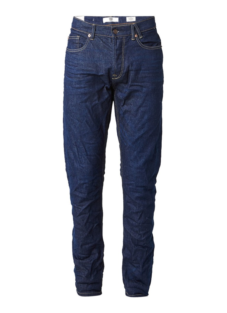 America Today Neil tapered fit jeans in donkere wassing