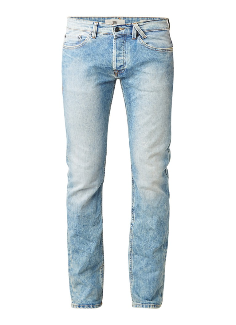 America Today Dean mid rise regular fit jeans met faded look