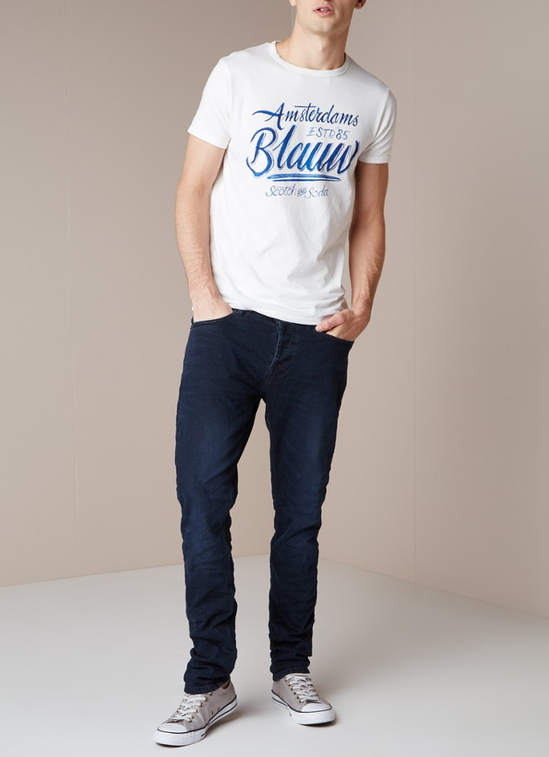 America Today Neil tapered fit jeans met donkere wassing