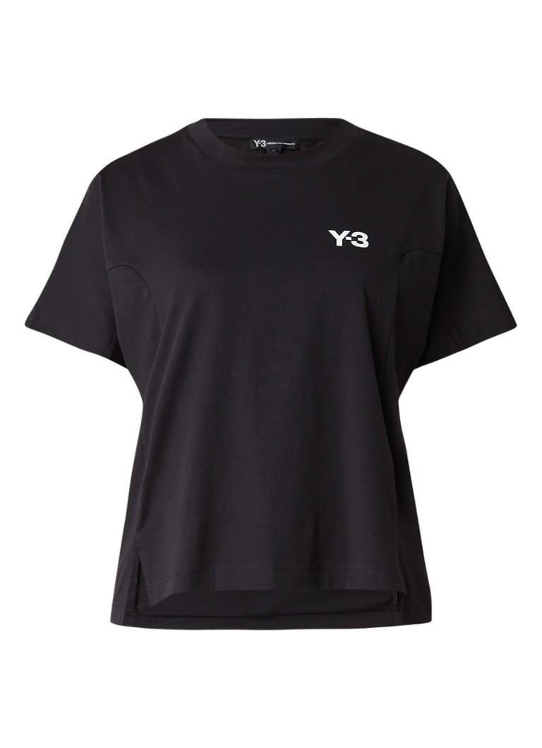 Y-3 T-shirt met logoprint en gestreept detail