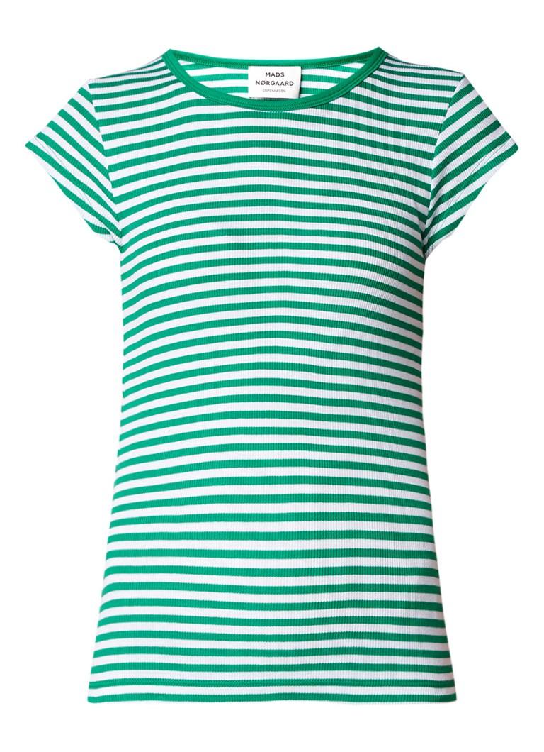 Mads Nørgaard Trappy T-shirt van biologisch katoen met streepdessin