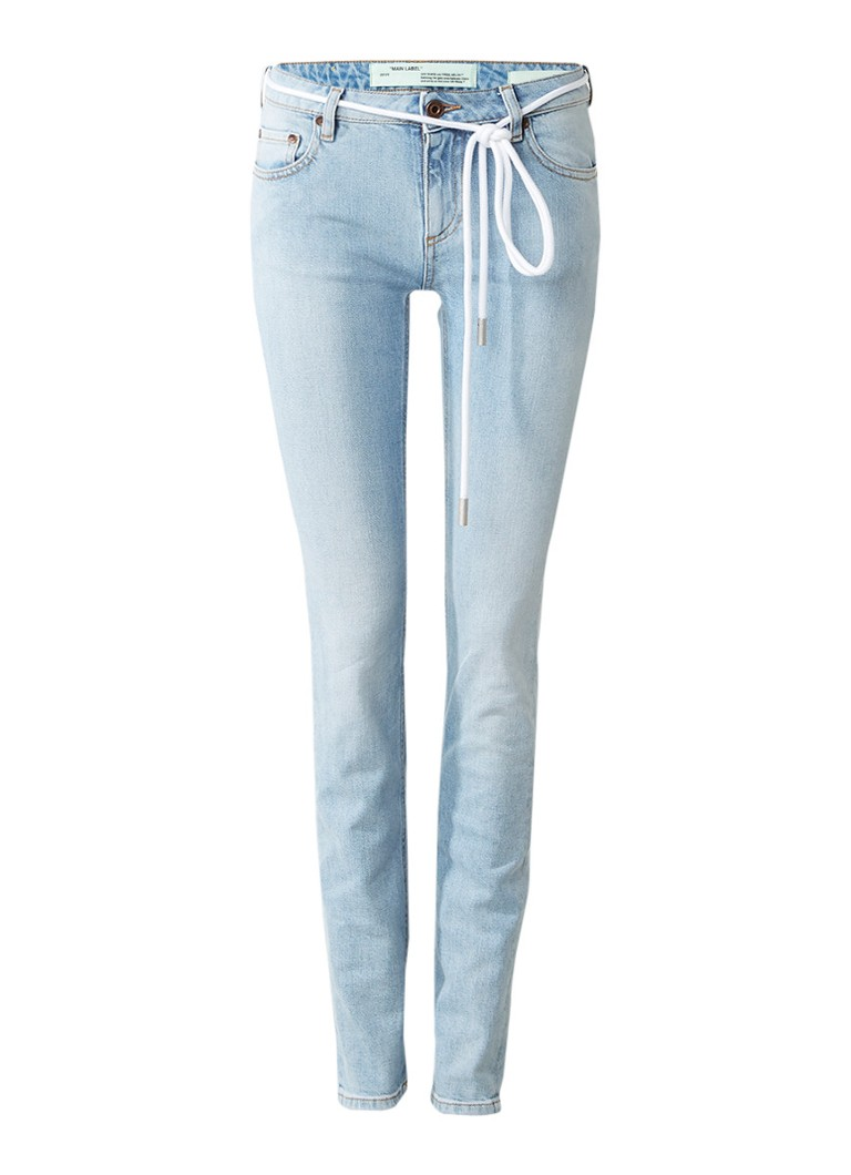 Off-White Diag skinny jeans met lichte wassing